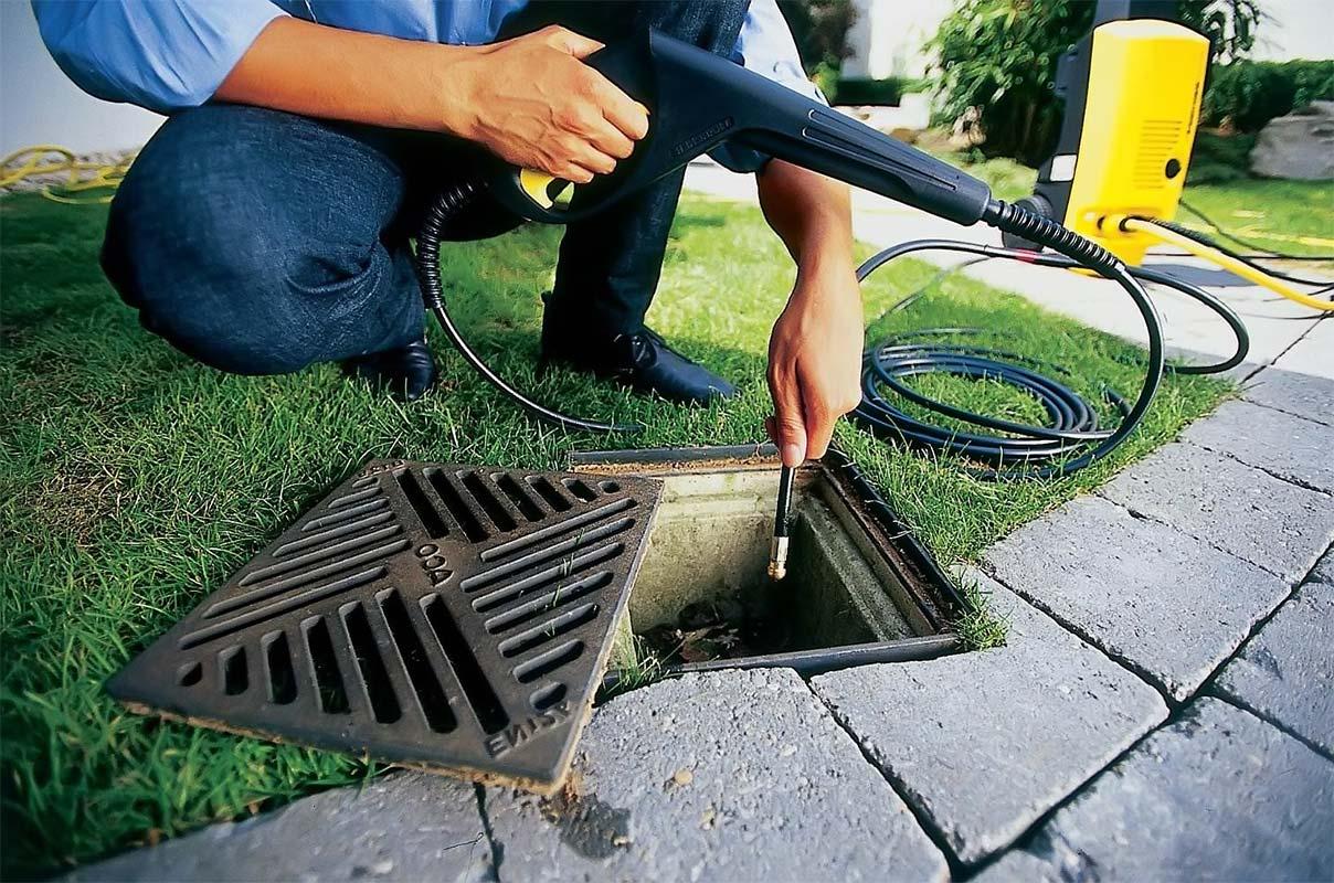 Фото промывки ливневой канализации