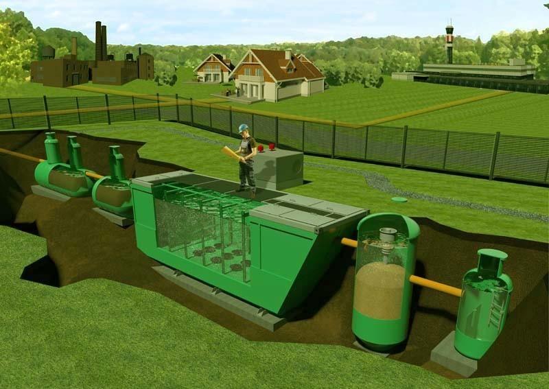 Схема очистного сооружения для ливневой канализации